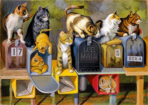 Cat's Got Mail 300 PC Large Format Puzzle.