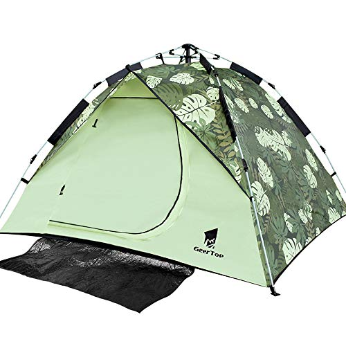 GEERTOP Backpacking Tent for Camping, 2 to 3 Person Lightweight Outdoor Survival Gear - Automatic Pop Up Tent