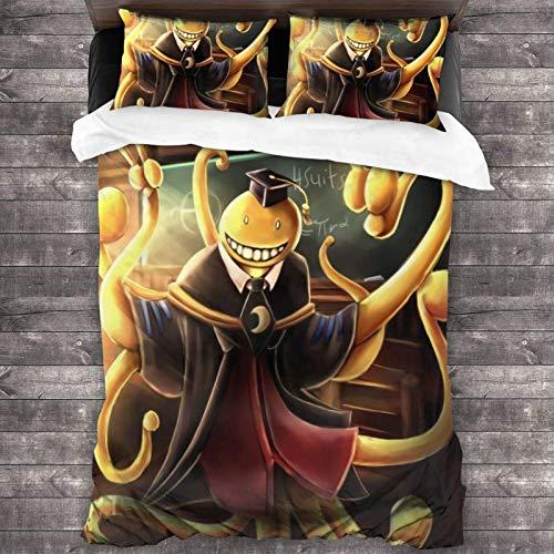 Kinhevao Assassination Classroom Koro-Sensei Four Seasons Funda nórdica Ropa de Cama (1 Funda nórdica y 2 Fundas de Almohada) C11273