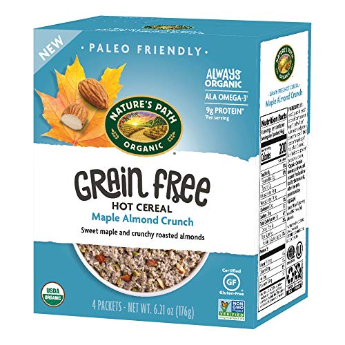 Nature's Path Organic Grain Free Hot Cereal, Maple Almond Crunch, 6.21 Oz Box, 4Count