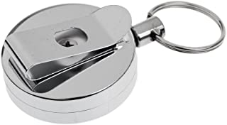 MagiDeal Retractable Badge Reel ID Holder Key Chain Ring Portable Fishing Lanyard
