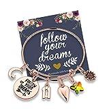 Birthday Gifts for Women Girls Bracelet, Stainless Steel...