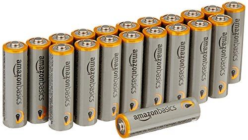 Panasonic RF-P150DEG-S Taschenradio mit Trageriemen, Batteriebetrieb Silber & Amazon Basics Performance Batterien Alkali, AA, 20 Stück (Design kann von Darstellung abweichen)