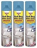 3 x Zero In Pest Bed Bug Control Killer Spray Linen Fragrance Home