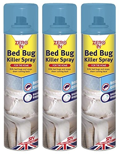 Discount Seller 3 x Zero In Pest Bed Bug Control Killer Spray Linen...