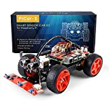 SunFounder Raspberry pi robot kit DIYラズベリーパイロボットキット視覚プログラミングと超音波誘導ライトはモジュールと教程に従う
