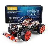SunFounder Raspberry Pi Car DIY Robot Kit for Adults Picar-S,Visual Programming with Ultrasonic Sensor Light Following Module Line Following Module
