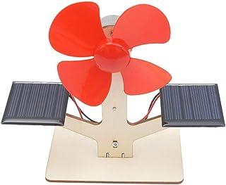 NUOBESTY DIY Ventilador Solar Juguete Ensamblaje de Madera Modelo Ciencia Experimento Kits para Niños Niños Estudiantes Cerebro Desarrollo Explorador