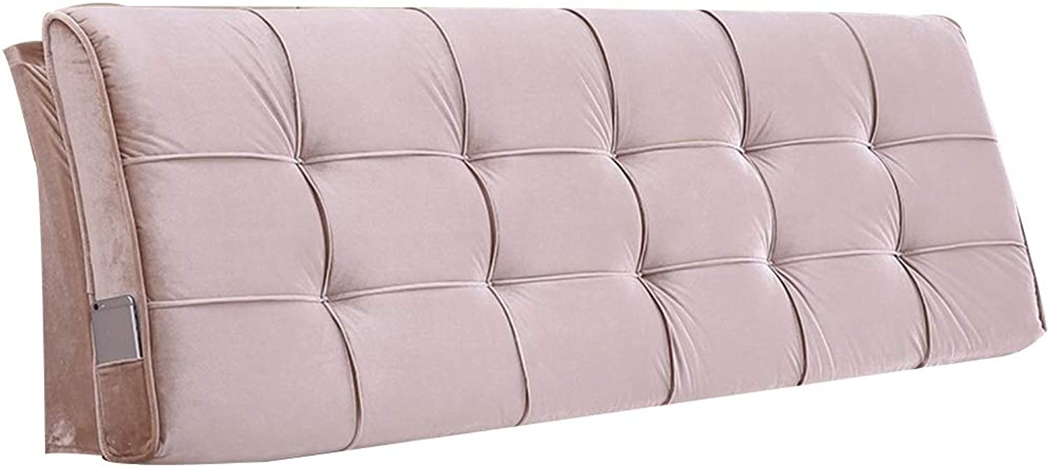 LXLIGHTS Upholstered Headboard Bedside Cushion Backrest Waist Pad Bed Wedge Sofa Pillow Bay Window, 3 colors, 21 Sizes, Easy to Install (color   Brown, Size   90  58  10cm)