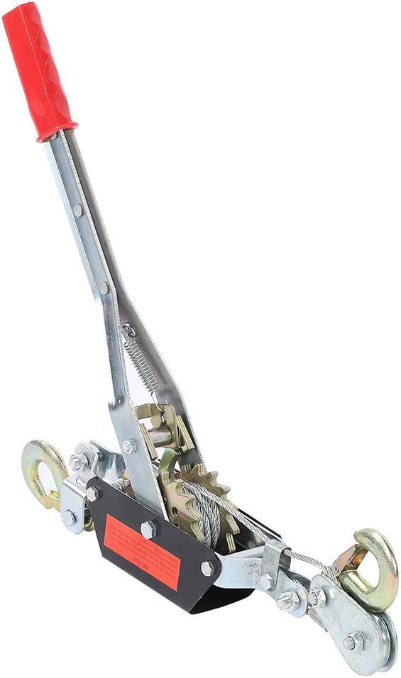Wire Rope-2/4T Wire Rope Trinquete Mano Extractor de potencia Herramienta de apriete Mini tensor Herramienta de elevación de doble gancho(2T)