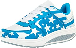 Women American Flag Sports Running Shoes Slip On Pantshoes Wedges Casual Shoes Sneakers by Gyouanime