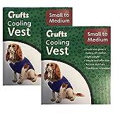 2 x Small/Medium SM Dog Cooling Vest Pet Hot Weather Heat Summer Beach Car Travel Holiday