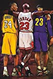 Bryant, Jordan, James: 'Gods of The Game'. Large 24'×36' Size. The Perfect Poster Gift. (Standard Rolled Poster)