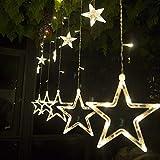 SALCAR luci colorate di Natale del LED 2 * 1 metro 12 stelle colorate illuminano tenda per...