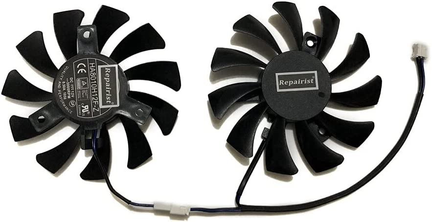 2pcs Set 75MM 40MM 2Pin GTX750 Colorado Springs Mall Graphics Import Cooler N750 Card GPU Fan