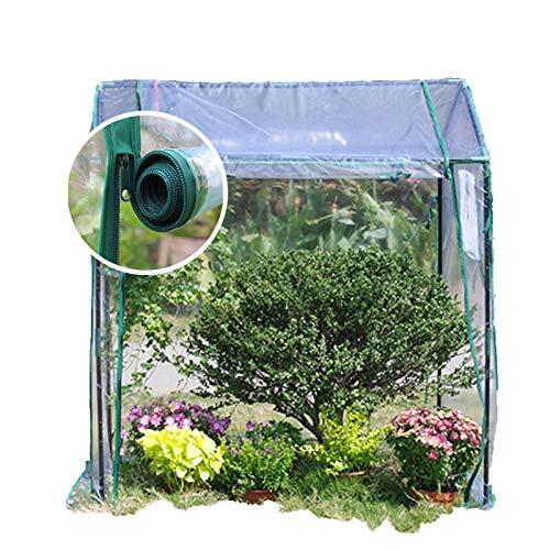 Serre De Jardin,Serre De Plain-pied Jardin Ferme Bâche Imperméable Double Fermeture Éclair Ventilation Utiliser Immédiatement Tente À Plantes (Color : Clear-2pcs, Size : 130x90x150cm)