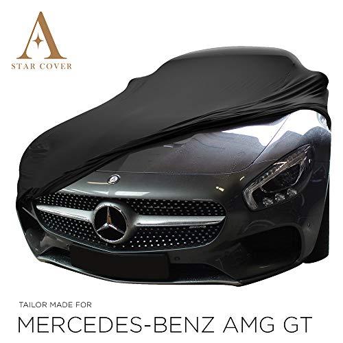 AUTOABDECKUNG SCHWARZ PASSEND FÜR Mercedes-Benz AMG GT (2 Doors) GANZGARAGE INNEN SCHUTZHÜLLE ABDECKPLANE SCHUTZDECKE Cover