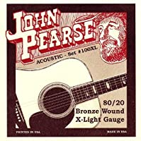 JOHN PEARSE 100XL 80/20ブロンズ Extra Light(10-47) ジョンピアーズ アコースティック弦 【国内正規品】