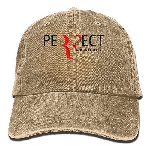 Tengyuntong Unisex Katie P. Hunt Roger Federer Plain Cool Adjustable Denim Baseball Cap Fashion
