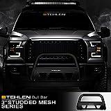 Stehlen 714937182844 3' Studded Mesh Series Bull Bar - Matte Black For 2011-2013 Dodge Durango / 2011-2015 Jeep Grand Cherokee
