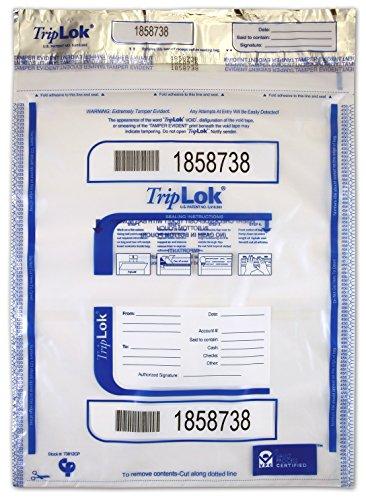 12 X 16 TripLok, Clear w/Pocket, 100 Deposit Bags