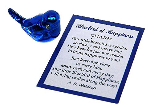 Ganz Bluebird of Happiness Pocket Charm with Story Card,One Size