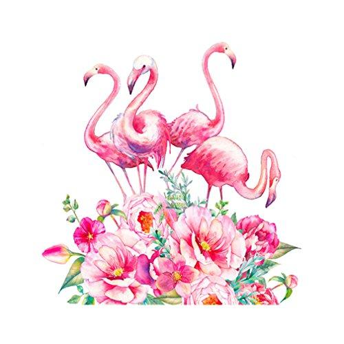 Zhouba - Broderie diamant et point de croix, motif perroquet et flamand rose 5D - Décoration murale, flamant rose, Taille unique
