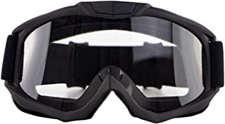 AKDSteel Motorbike Goggles Motocross Goggle Classes Cycling Gafas Off Road Racing Eyewear Ourdoor Sport Gaming Sunglasses Black Frame Transparent Lens AUTO