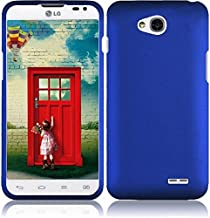 HR Wireless Rubberized Cover Case for LG Realm Exceed 2 Ultimate 2 L70 LS620 VS450 L41C - Retail Packaging - Blue