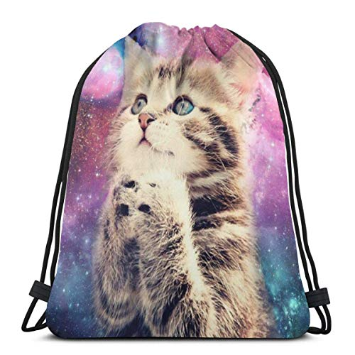 Gym Drawstring Bags Backpack Worship Cat Sackpack Tote For Travel Storage Shoe Organizer Basketball Water Bottle Student