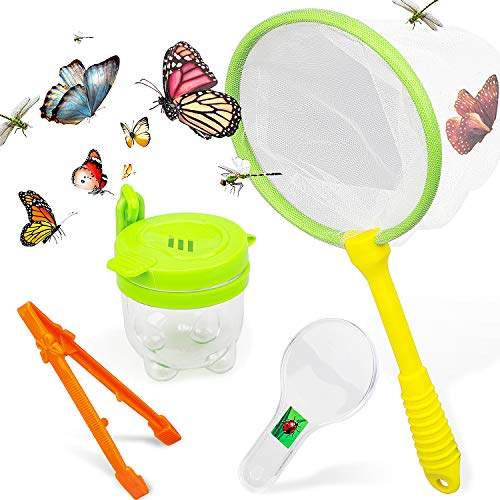 STEAM Life Educational Bug Catcher Kit for Kids | Bug Collection and Kids Explorer Kit Includes Butterfly Net, Bug Observation Capsule and Magnifying Glass | Science Toy for Boys and Girls 3 4 5 6 7