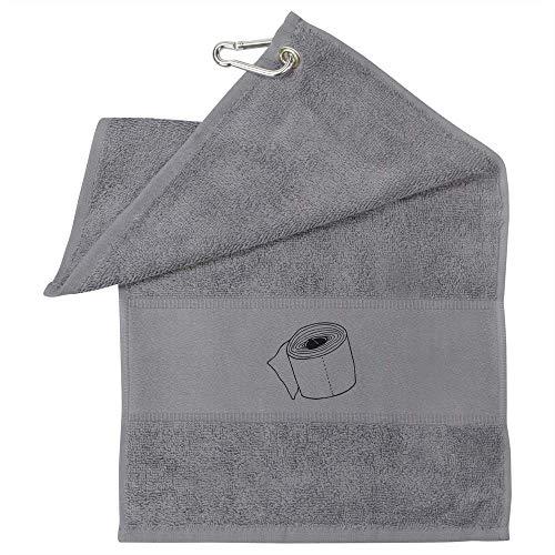 Azeeda 'Toilettenpapier' Graues Golf / Gym Handtuch (GT00004855)