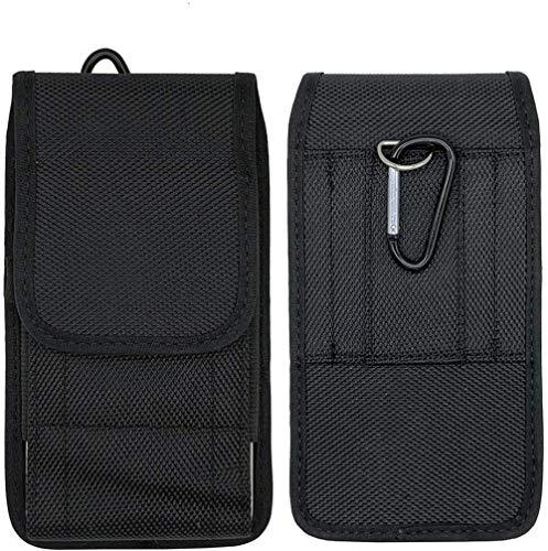 Riñonera Negra con Clip para cinturón para Doro 8035 8040 8080 HOMTOM P30 Pro Funda de Nailon Vertical/Horizontal para Motorola