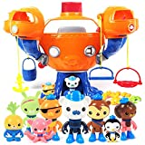 Prcdey BIG Octonauts Submarine Vehicle Toys The Octo-Pod U Boat Whale Ship Models Baby New Year Toys Gift Multicolor