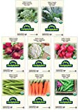 Premium Winter Vegetable Seeds Certified Organic Non-GMO Heirloom Seed Collection Broccoli, Beet, Carrot, Cauliflower, Green Bean, Kale, Pea, Radish, Chef & Gardener Favorites! NEW UPGRADED PACKAGING!