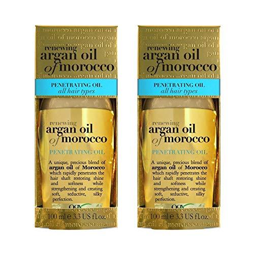Price comparison product image Organix Renewing Moroccan Argan Penetrating Oil,  3.3 Fl Oz (Set of 2)