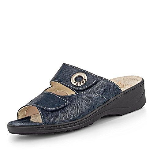 Fidelio Damen Pantoletten Damenpantoffel 110522 46,00 blau 58168