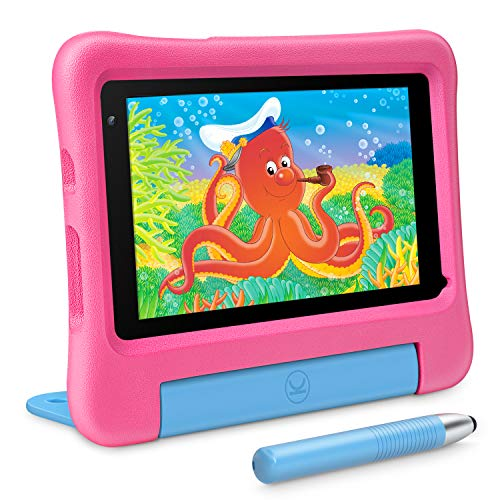 VANKYO MatrixPad S7 Kids Tablet 7 inch, Android 9.0 Pie, 32GB ROM, 2GB RAM, COPPA Certified KIDOZ& Google Play Pre-Installed with Kid-Proof Case, Wi-Fi, Eye Health Mode, Blue (Pink)