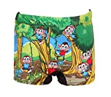 mitushi products Boy's One Piece Swimsuit (MONKEY4A_Lemon Green_8-9 Years)