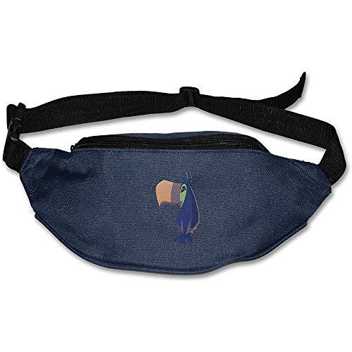Sac Banane Fanny Pack Blue Toucan Pouch Belt Travel Pocket Sports De Plein Air