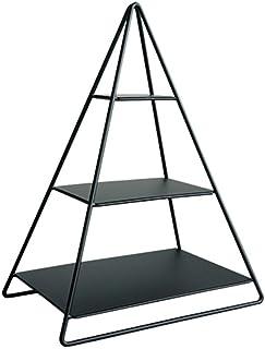 Dxbqm Support de Rangement en Fer forgé Triangle pour Organisateur de Stockage, étagère de Rangement de Bureau Vent pour d...