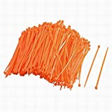 ucland Nylon Ajustable Bridas Autoblocante, 2,5 mm x 100 mm, 300 pcs Naranja