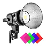 GVM Great Video Maker 80W CRI97+ Video Lights with Bowens Mount Color Temperature 5600K Dimmable LED Continuous Lighting Spotlight Photography Shooting Light with Reflector (80W + Filter) (VC-P80S)