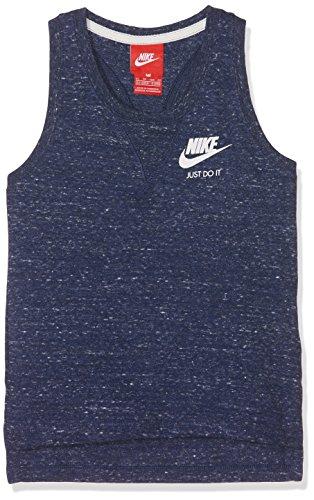 NIKE Gym Vintage Tank YTH Camiseta, niñas, Azul (Binary Blue/Sail), XS