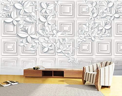Papel Pintado 3D Geometría De Mariposa De Origami Blanco Fotomurale 3D Tv Telón De Fondo Pared Decorativos Murales
