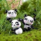 Case&Cover Panda De La Torta Set, 8 Pc Panda Jardinería Muñeca Decoración del Acuario Playset Juguetes Figuras Linda del Partido Decoración