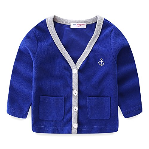 Jaqueta para meninos Mud Kingdom com linda âncora leve, Dark Blue, 18-24 Months