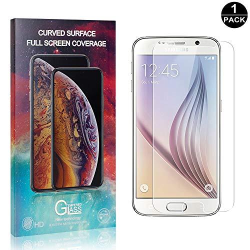 Bear Village® Verre Trempé pour Galaxy S6, Sans Bulles, Ultra Transparent, Anti Rayures Protection en Verre Trempé Écran pour Samsung Galaxy S6, 1 Pièces