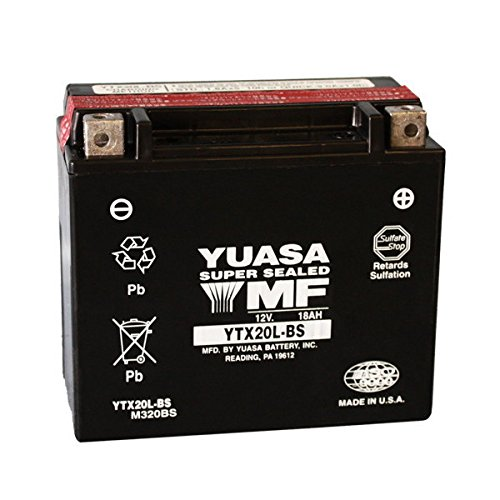 Batería Yuasa YTX20L-BS para Harley Davidson XL53C Sportster Custom 8832000-200312V, 18Ah, sellada con ácido