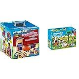 PLAYMOBIL Dollhouse Casa De Muñecas Maletín, A Partir De 4 Años (5167) + City Life Playset Fiesta En El Jardín, Multicolor (9272)